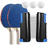 YJZIWX Ping Pong Paddles Set of 2 - Table Tennis Set - Ping
