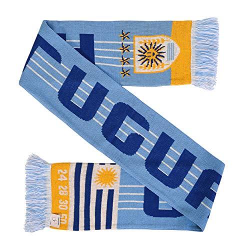 Cachecol de malha de futebol uruguaio