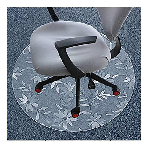 NINGWXQ Bureaustoel Pad Vloerbeschermende Mat Vloermat Stoelkussen Krasbestendig, Slagvast Slijtvast Stoelmat for Harde Vloeren, Aanpasbaar (Color : 1.00mm, Size : Diameter-140CM)