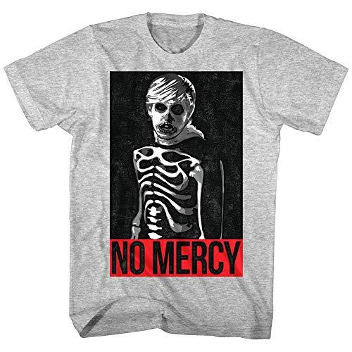 Karate Kid Cobra Kai Johnny Lawrence Skeleton Men's T Shirt No Mercy Zabka Gray Tee