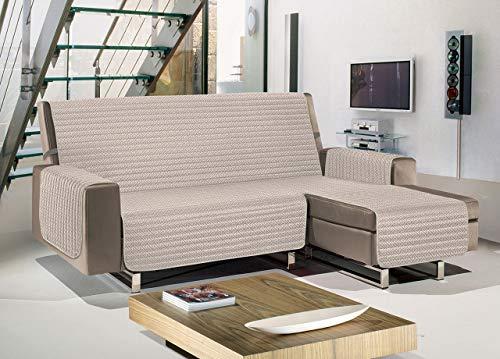 Biancheriaweb - Funda para sofá Penisola acolchada antimanchas impermeable modelo Olimpo beige