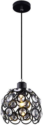 ●  Moderne Cristal Petit Lustre Restaurant Minimaliste Suspension Créativité Personnalité Plafonniers En Cristal pour Chambre Café Restaurant Restaurant Salon Garnitures Lumineuses (Couleur  Noir) ●