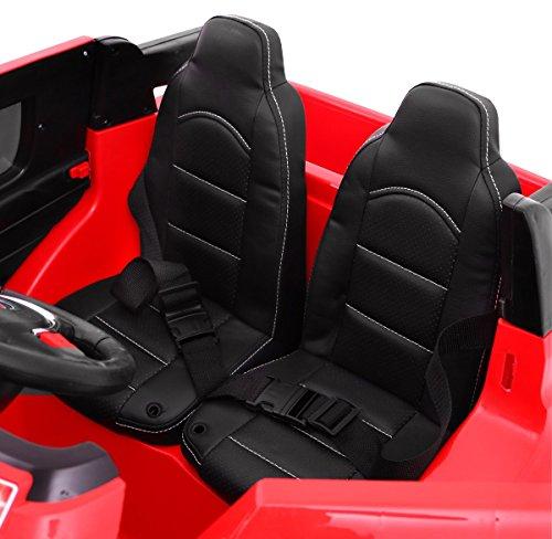 RC Auto kaufen Kinderauto Bild 3: BSD Elektro Kinderauto Elektrisch Ride On Kinderfahrzeug Elektroauto Fernbedienung - S8088 AIR Gepumpte Räder 2-Sitzer - Rot*