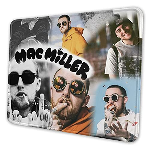 Mac Cover Mi-Ller Gaming Mouse Pad Square Waterproof Mouse Mat with Non-Slip Rubber Base for Office Home Laptop Travel