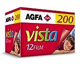 Agfa Agfacolor Vista - Carrete fotográfico (200, 135 mm, 12 Fotos, CN)