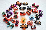 20pcs/10pairs Dog Hair Bows Halloween Designs Dog Topknot Bows Rhinestone Centre Pet Dog Grooming Bows Supplies Dog Hair Accessories