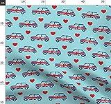 Mini Cooper, Herzen, Union Jack, Britische Flagge, Vintage,