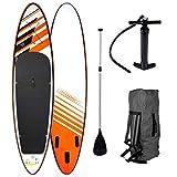 "SUP Board Stand up Paddling Surfboard""Relax"" 320x76x15cm aufblasbar Double-Layer Alu-Paddel Hochdruck-Pumpe Transportrucksack 130KG Tragkraft -"