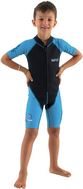 Juventud Jugar en el Agua y Practicar Snorkel Unisex ni/ños SEAC Dolphin Traje Corto Neopreno de 1.5 mm y Lycra para Nadar