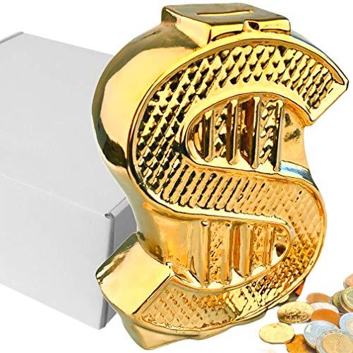 Hucha de cerámica hecha a mano - diseño de dólares estadounidenses - regalo único para Navidad - cumpleaños - Año Nuevo, caja de ahorro de dinero para niños - niñas - adultos - niños - decoración