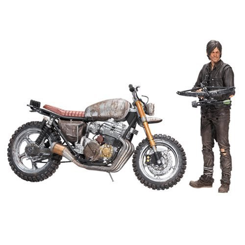 Walking Dead The Daryl Dixon Action Figure and Motorcycle Version 2 Deluxe Box Set
