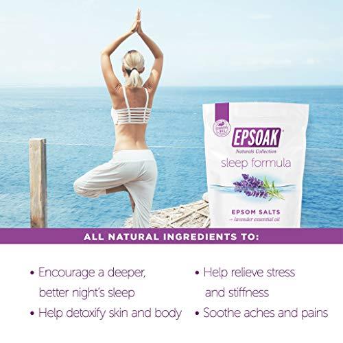 Epsoak Epsom Salt Sleep Formula 4 lbs. - Lavender Bath Salts, Sleep Well