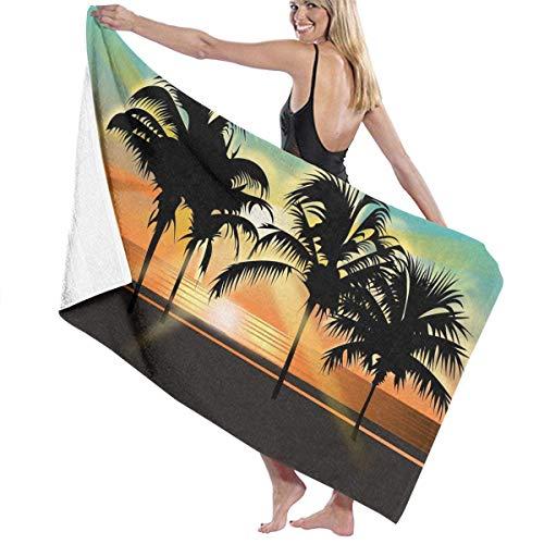 WKLNM Palm Tree badhanddoek Beach Spa douche badpak zacht licht comfortabele droogt snel