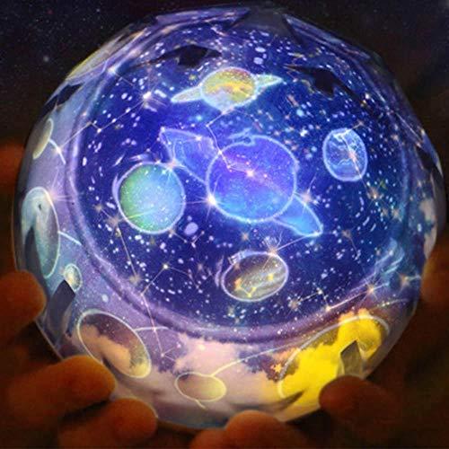 Ciel Étoilé Romantique Nuit Étoilée Lumière Ciel Projecteur Étoile Lampe Étoile Master Planet Magic Earth Universe Led Coloré Rotation Clignotant Enfants Cadeau-Univers Rotation