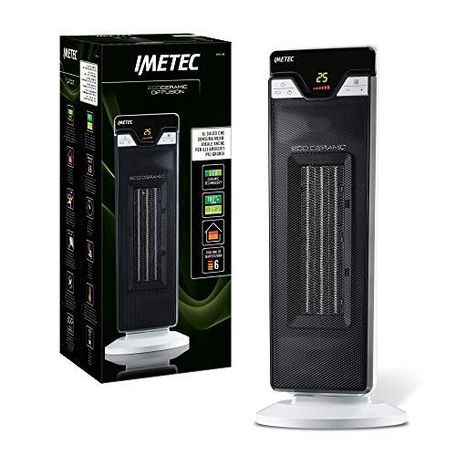 Imetec Eco Ceramic Diffusion CFH2-100 Termoventilatore Oscillante con Tecnologia Ceramica a Basso Consumo Energetico, Oscillante, 6 Funzioni di Temperatura
