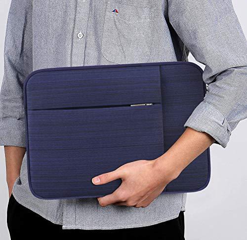 "Lacdo 11 Pulgadas Funda Protectora para Portátiles para 11.6"" Acer ASUS HP Samsung DELL Chromebook, 12.3"" Surface Pro 7, 11"" Lenovo IdeaPad 3 Chromebook, 11.6"" MacBook Air Bolsa Funda Blanda, Azul 7"