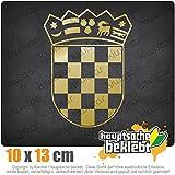 KIWISTAR Flagge Kroatien Wappen 13 x 10 cm IN 15 FARBEN - Neon + Chrom! Sticker Aufkleber