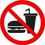 Akachafactory Autocollant Sticker Magasin Interdit ne Pas Manger Nourriture Boisson Panneau