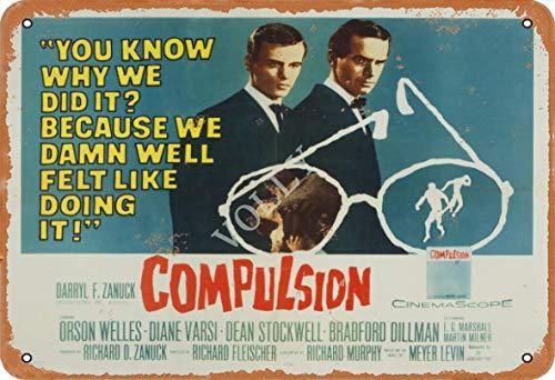 Volly You Know Why We did It? Compulsion Retro-Blechschild zur Vermeidung von Blendung klassisch, schick, modisch, Metall, geeignet für Küche, Wohnzimmer, Bar, Café, Dekoration