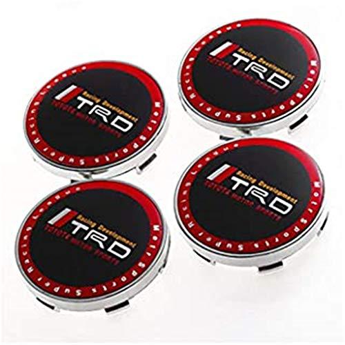 CAREFUL 4pcs 68mm Car Racing Wheel Center Tapas Hub Tapas Tapas Emblemas Insignias