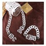 N\A Damenarmband Armbänder, Motorrad Punk Transparentes Acryl Armband Armband, Damen Manschette...