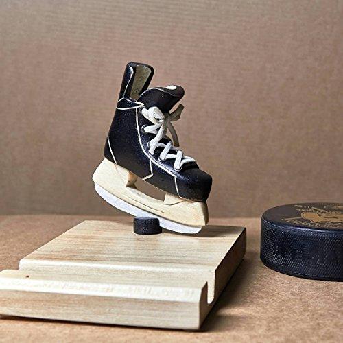 Houten Hockey/Schaatsen Trofee & Telefoonhouder