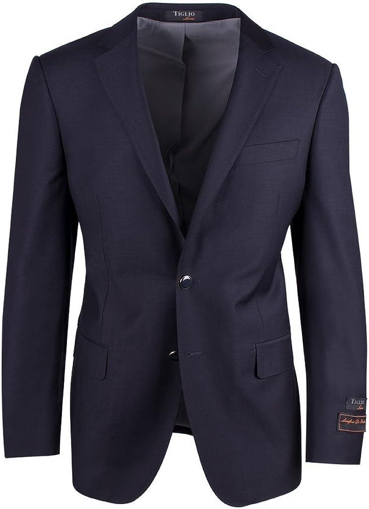 Tiglio Luxe Novello Navy Blue Modern Fit, Pure Wool Blazer TIG1002