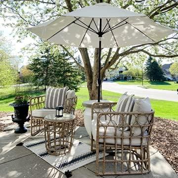 BLUU 3-Piece Aluminum Classic Limited time trial price Conversatio Daily bargain sale Wicker Furniture Patio