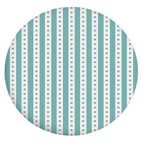 Mantel ajustable de poliéster con bordes gruesos, estilo vintage, con textura retro, para mesas redondas de 36 a 40 pulgadas, para comedor y fiesta, color verde menta