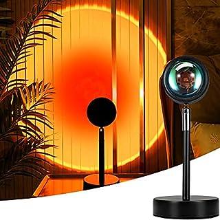 Mydethun Sunset Projectielamp, zonsonderganglamp, USB-ledprojectorlamp, projectorlicht, 90 graden rotatie, romantische vis...