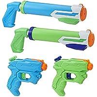 Súper Soaker- Floodtastic 4 Pack, Multicolor (Hasbro E2999EU4)