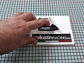 Art Design Pegatina Mivv Placa de Adhesivo Aluminio semirr/ígido para Olla de Escape de Alta Temperatura 180 /° C Vinilo Laminado Auto Moto Scooter Coche