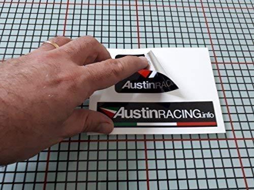 Pegatina Adhesivo Austin Racing Tubo Escape Aluminio Altas TEMPERATURAS