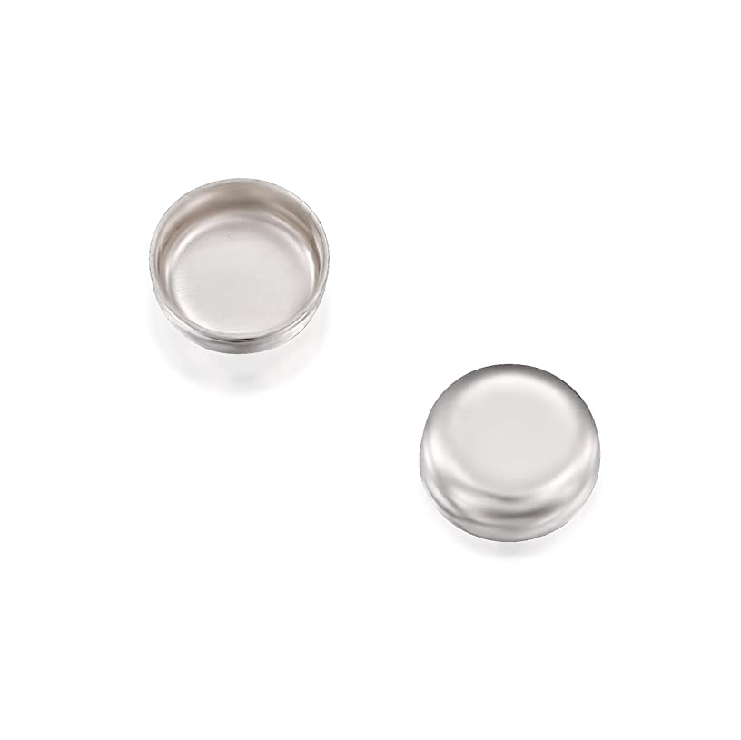 Round Setting 925 Sterling Silver 4 mm Bezel Cup Findings for Rings Pendants Charms Earrings, 12 Pack