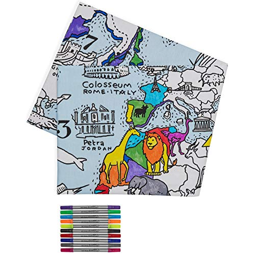 Tafellaken met wereldkaart