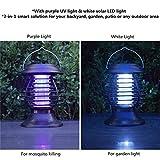 Lámpara solar para matar mosquitos al aire libre, para colgar insectos, insectos, lámpara de tienda de campaña