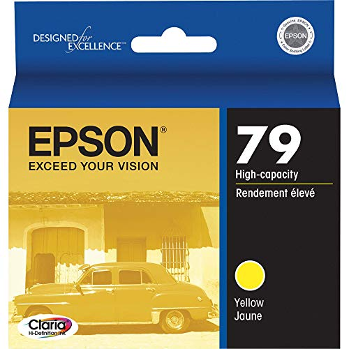 EPSON T079 Claria Hi-Definition Ink Standard Capacity Yellow Cartridge (T079420) for select Epson Artisan Photo Printers