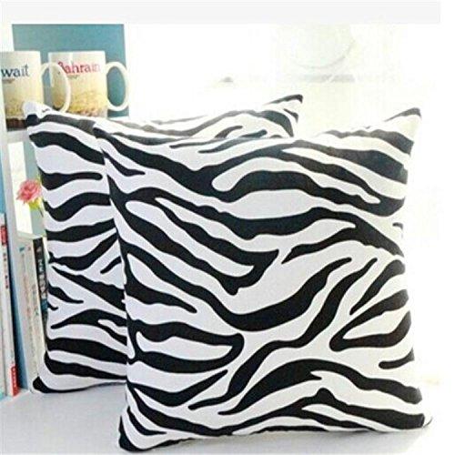Hengbaixin creativi copridivano zebrato Copertura del Cuscino Bianco Nero Stampa Federa Divano Letto Cuscino