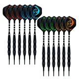 6.-Wolftop-15-Pack-Soft-Tip-Darts-17-Grams-with-Aluminum-Shafts-and-5-Style-Flights