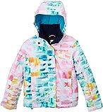 Roxy Jetty - Chaqueta de esquí para niña, color multicolor/blanco, talla 14