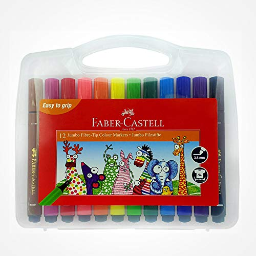 Faber-Castell 12 Jumbo Fibre-Tip Colour Markers
