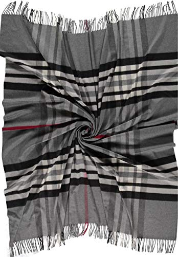 Giorgio Rimaldi Coperta/Plaid in Cashmink/Copriletto/Plaid per Il Divano/Coperta - più Sottile del Cashmere - Coperta Ampia Dimensioni 150 x 180 cm