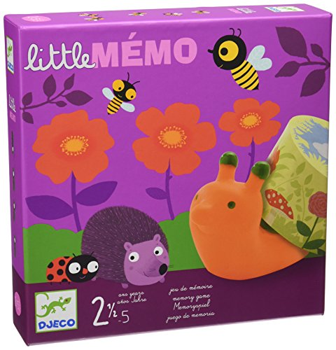 Djeco DJ08552 Gesellschaftsspiel Little Memo, Multicolour