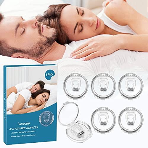 BLAZOR Schnarchstopper, Anti Schnarch Nasenclip, Magnetisch Schnarchen Stopper, Nasenklammer gegen Schnarchen aus Weiches Silikon, für komfortablen Schlaf und Bessere Atmung