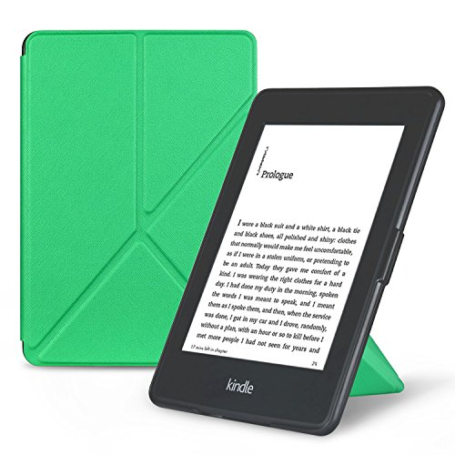 OMOTON Smart Case Cover -- Origami Stand Folio Style PU Leather Smart Cover for your All-New PPW E-book Device (Fits Versions: 2012, 2013, 2014 and 2015 All-new 300 PPI Versions), Classic Mint Green