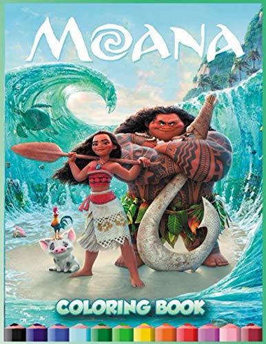 Moana Coloring Books: Super Coloring Book for Toddlers and Fans