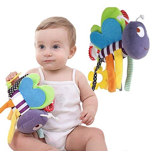 Morbuy Poupées de Couchage Bébé Appease avec des Jouets Nouveau-nés Plush Animaux Bébé Cute Soft Peluche Activité Crib Poussette Jouets Toy Doll
