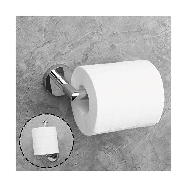 Paladinz – Portarrollos de Papel higiénico de Acero Inoxidable Cromado