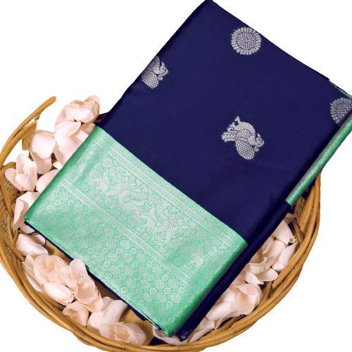 Any Designer Women's Woven Silk Saree With Un-stitched Blouse