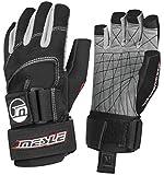 MESLE Handschuhe Ultimate Grip 3/4 blk-rot, Wakeboard- und Wasserskihandschuhe -
